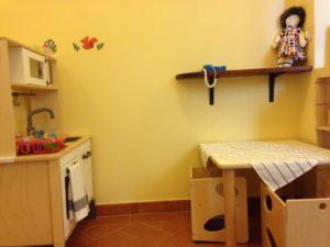 L'angolo del gioco Simbolico: la piccola cucina.